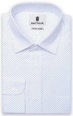 The Black & White Apara Polkadot Dress Shirt