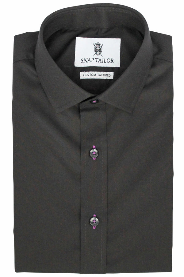 Photo of the Diamond Solid Dress Shirt in Black