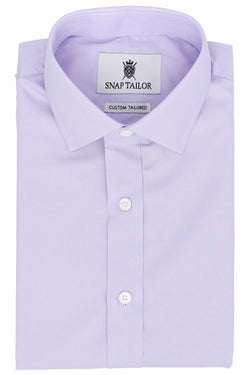 Photo of the Diamond Solid Dress Shirt in Lavender