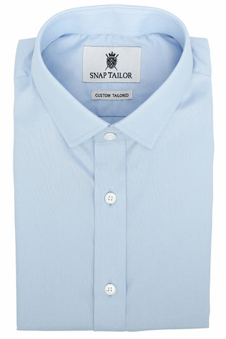 Photo of the Diamond Solid Dress Shirt in Light Blue