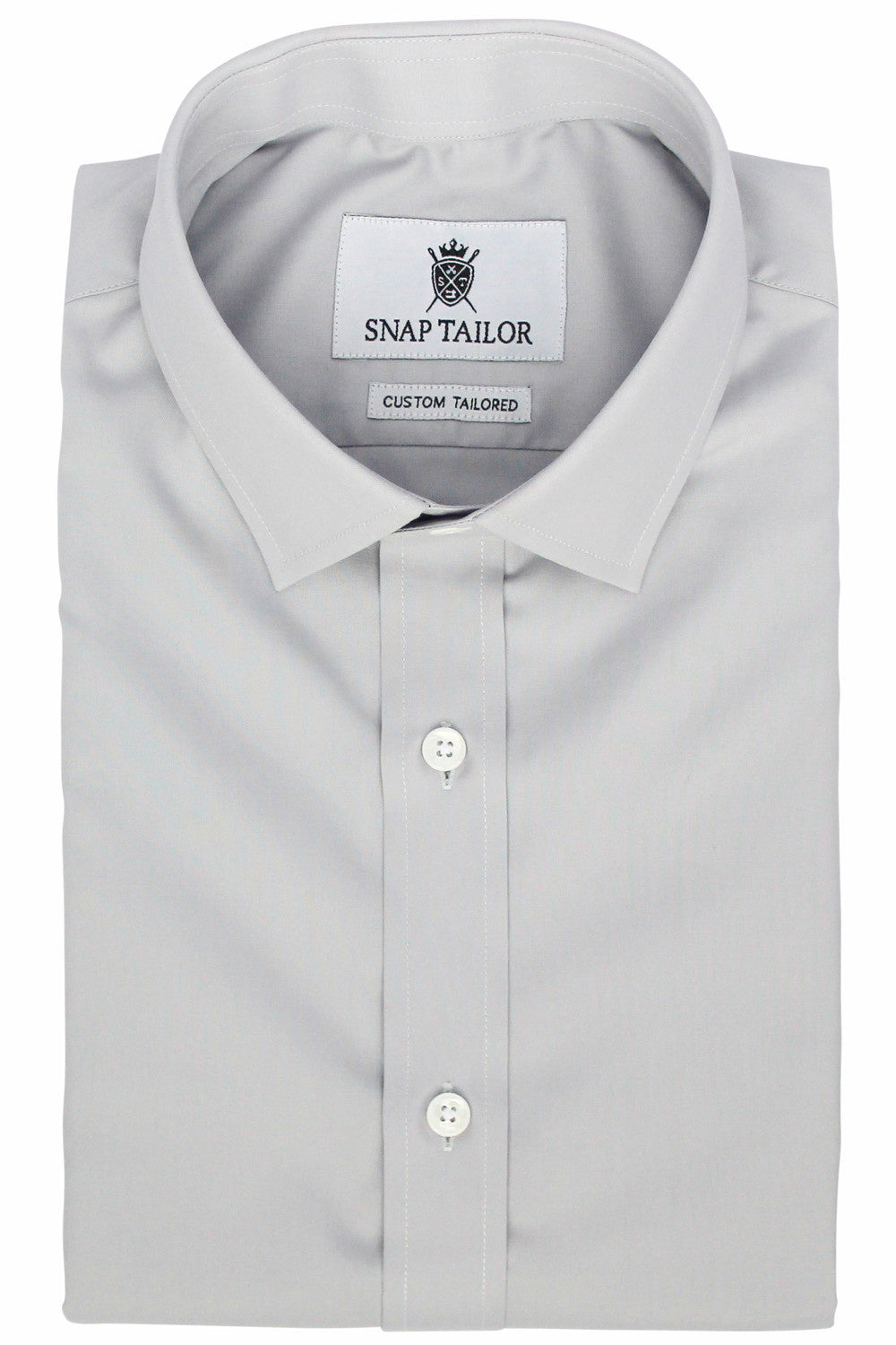 Photo of the Diamond Solid Dress Shirt in Light Gray