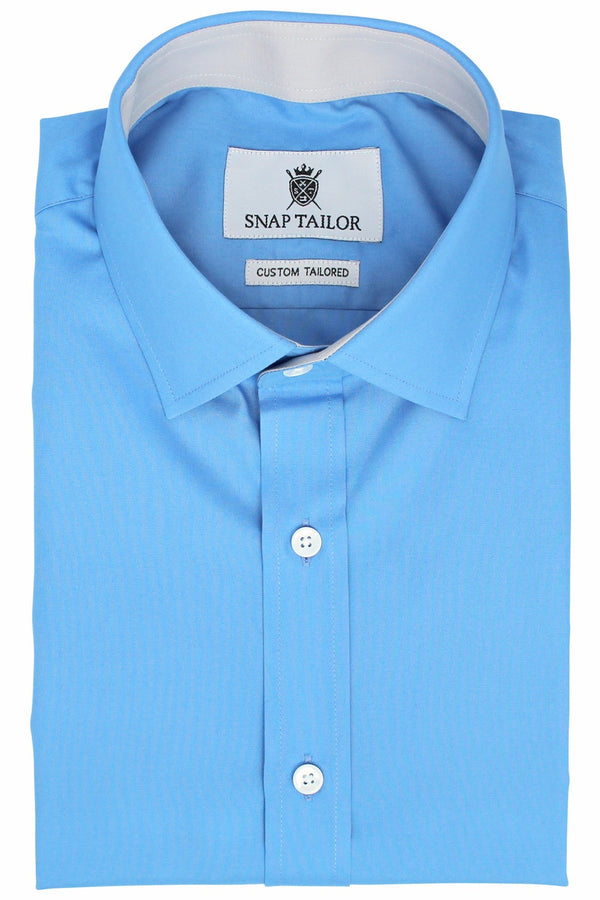 Photo of the Diamond Solid Dress Shirt in Sky Blue