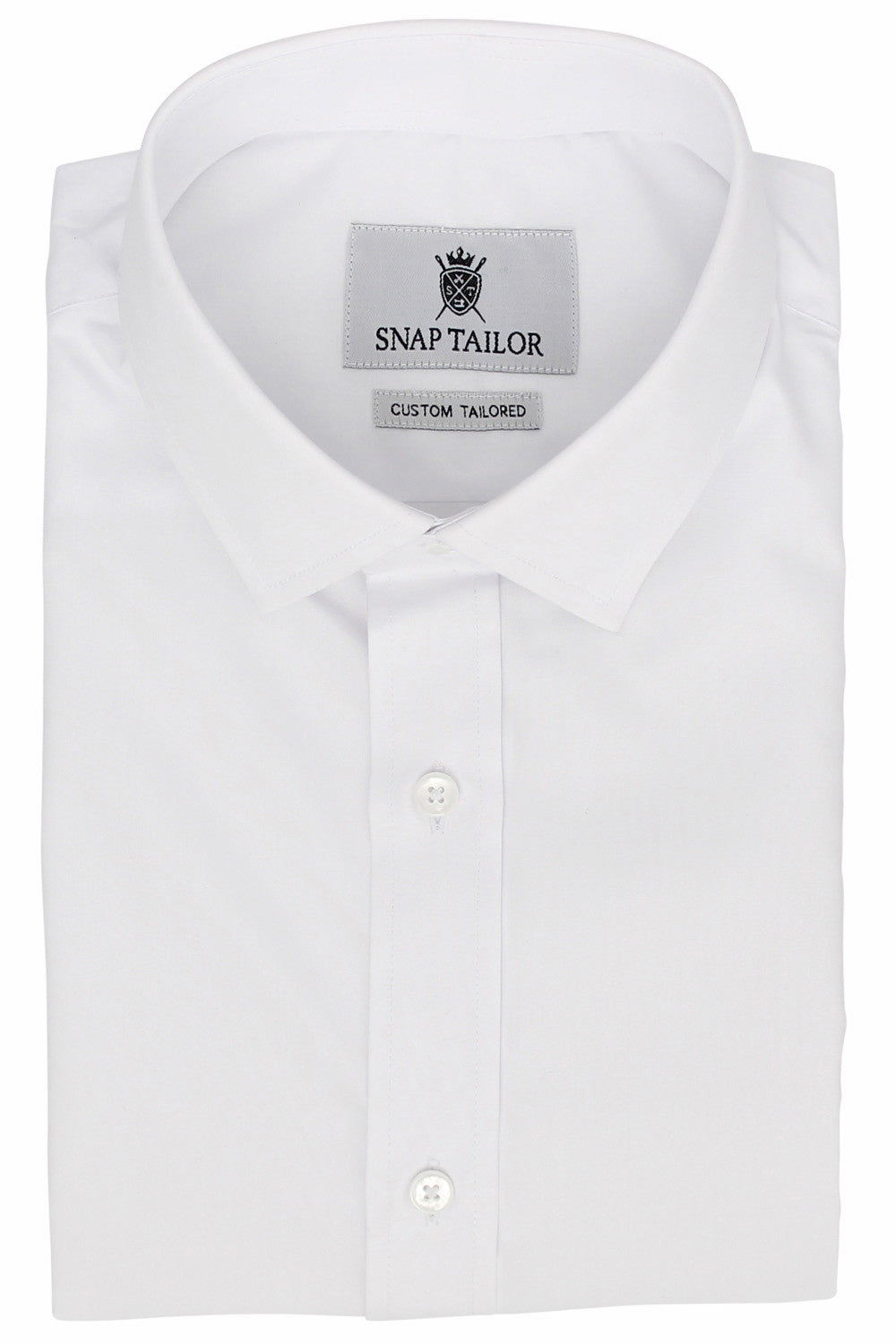 Photo of the Diamond Solid Dress Shirt in White