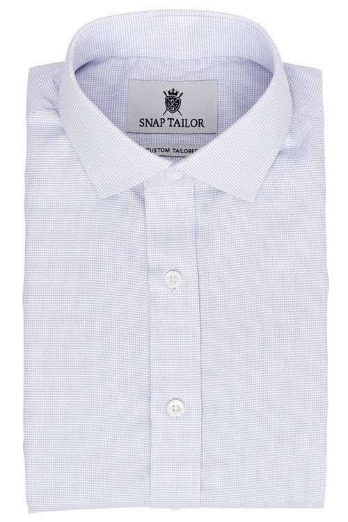 Photo of the Dots Dress Shirt in Periwinkle on White