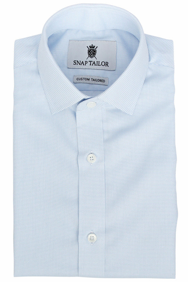 Photo of the Dots Dress Shirt in Sky Blue on White