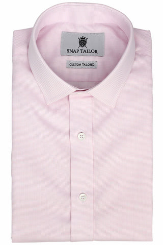 Photo of the Dots Dress Shirt in Soft Pink on White