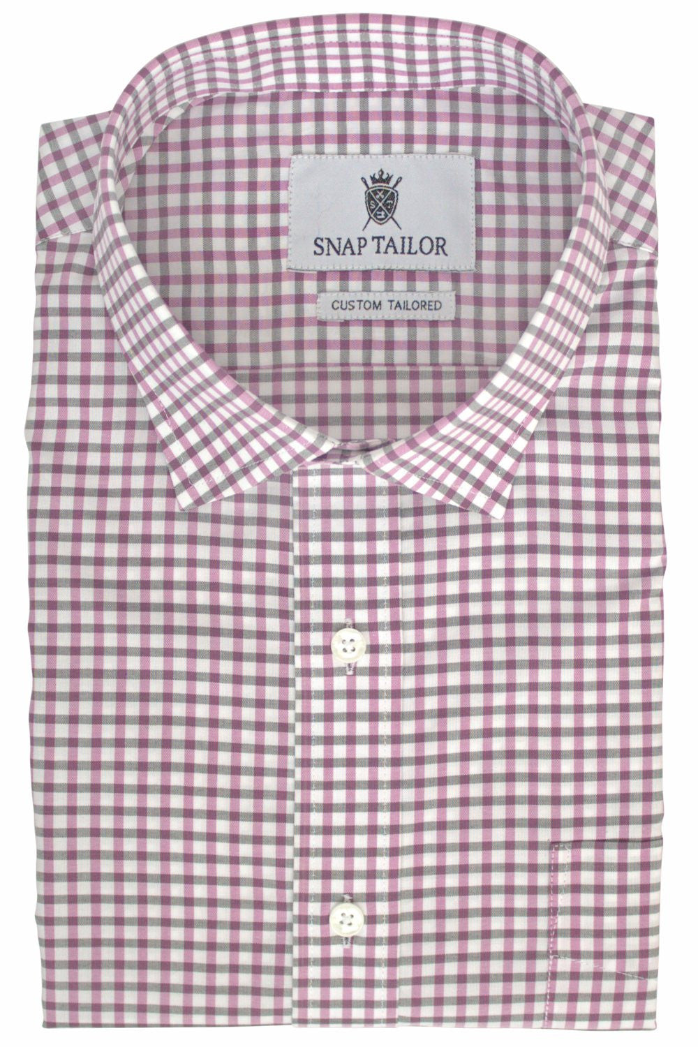 Photo of Earthy Gingham Casual Shirt in Magenta and Black