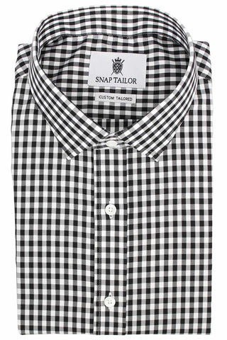 Photo of the Gingham Twill Casual Shirt in Black
