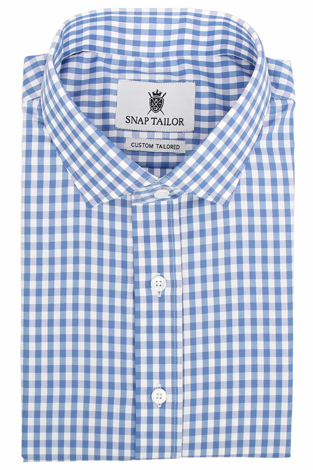 Photo of the Gingham Twill Casual Shirt in Blue
