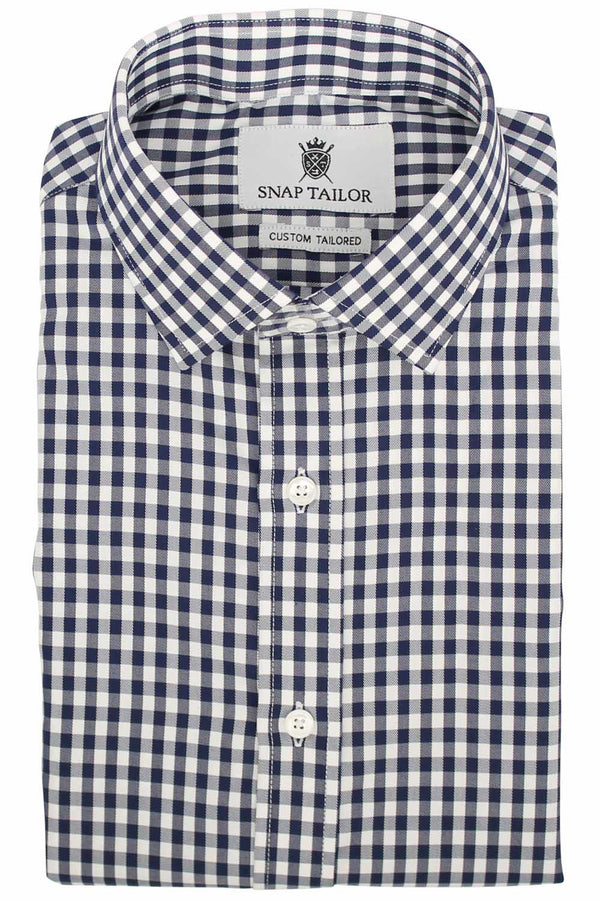 Photo of the Gingham Twill Casual Shirt in Midnight Blue