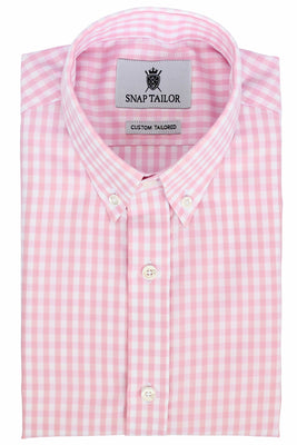Photo of the Gingham Twill Casual Shirt in Soft Pink