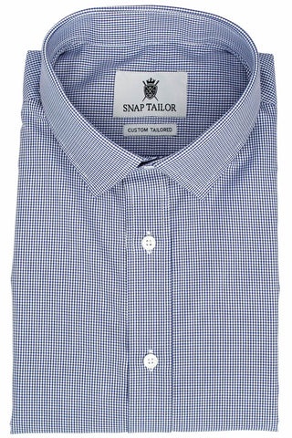 Photo of the Houndstooth Grid Twill Dress Shirt in Dark Blue