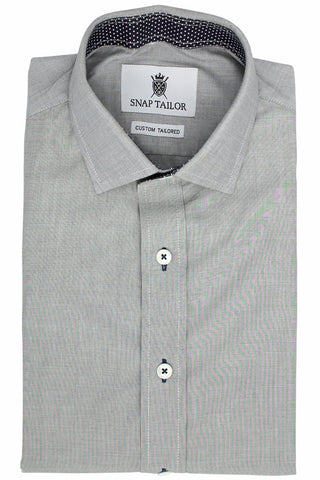 Photo of the Luxe Textured Solid Casual Shirt in Gray