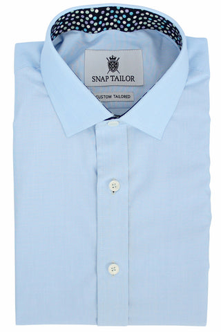Photo of the Luxe Textured Solid Casual Shirt in Light Blue