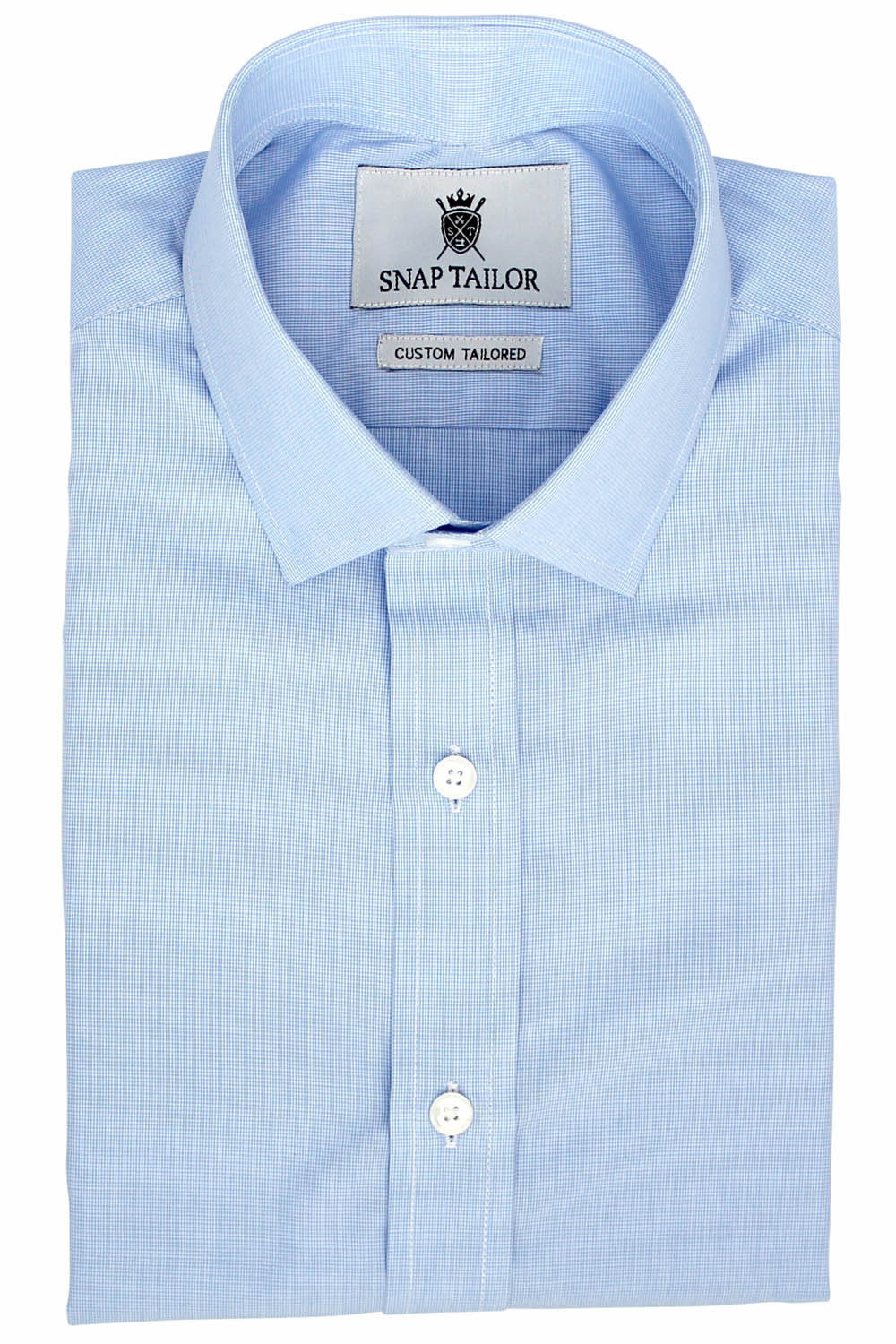Photo of the Microgrid Dress Shirt in Light Blue