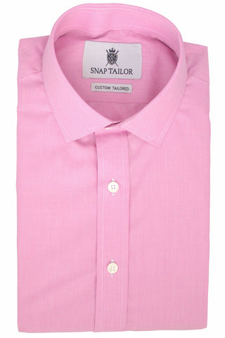 Microgrid Dress Shirt in Pink