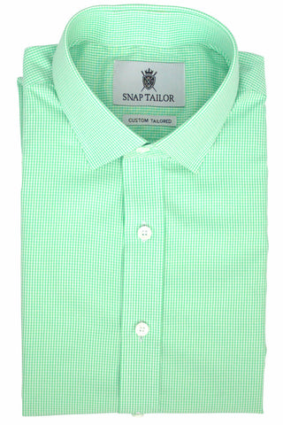 Photo of the Mini Gingham Casual Shirt in Mint Green