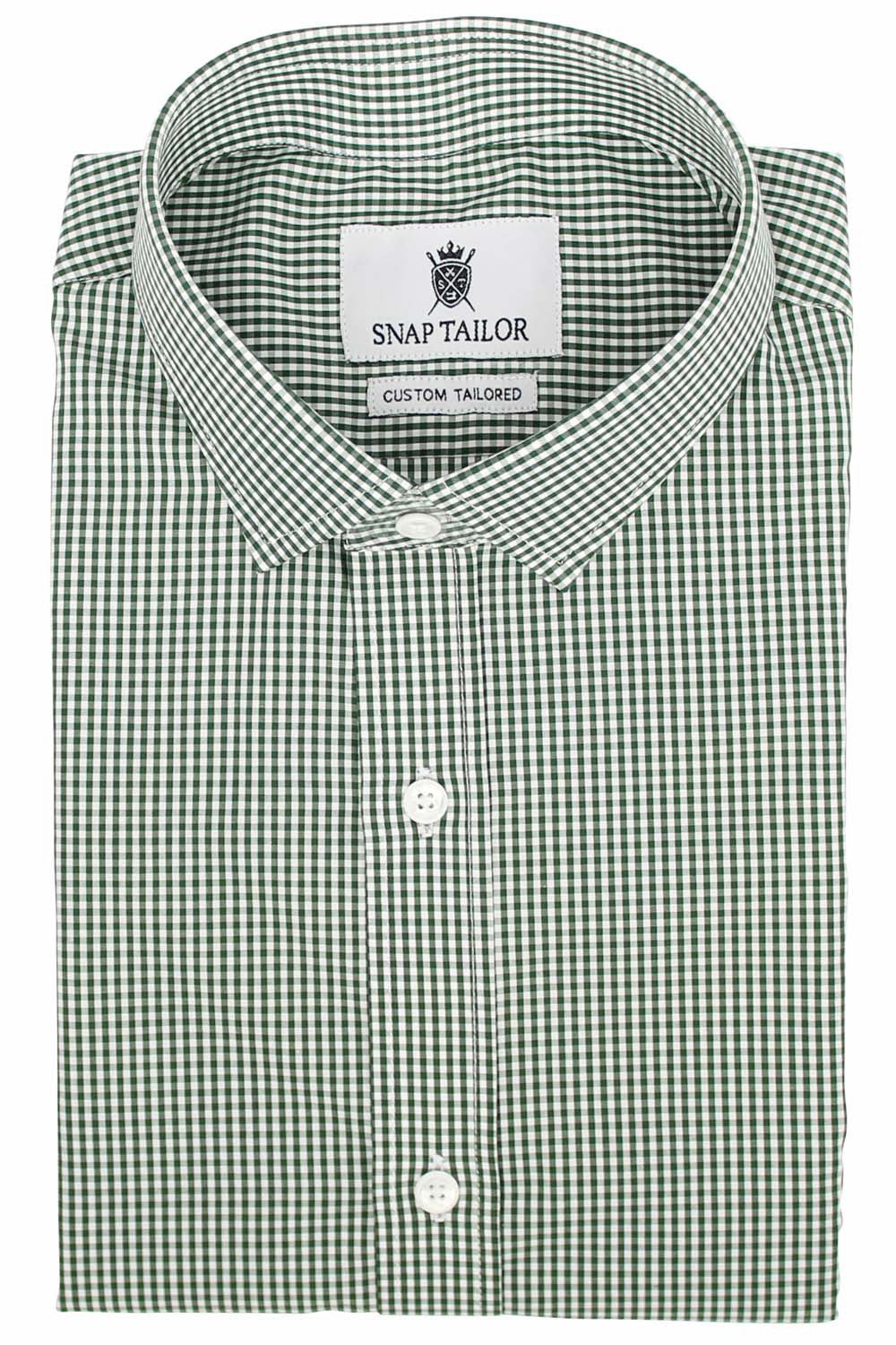 Photo of the Mini Gingham Dress Shirt in Green