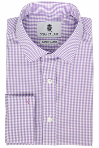 Photo of the Mini Gingham Dress Shirt in Lavender
