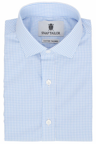 Photo of the Mini Gingham Dress Shirt in Light Blue