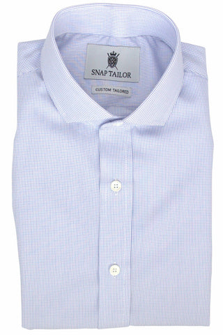 Photo of the Mini Grid Dress Shirt in Navy Blue