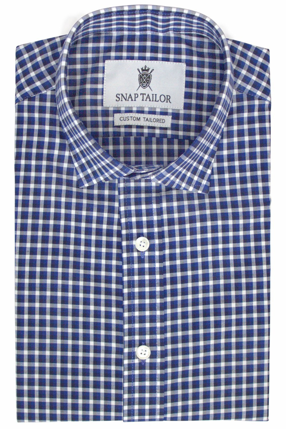 Photo of Multi Check Casual Shirt in Blue, Black ,and White