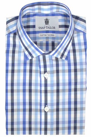 Multicolor Gingham Casual Shirt in Blue