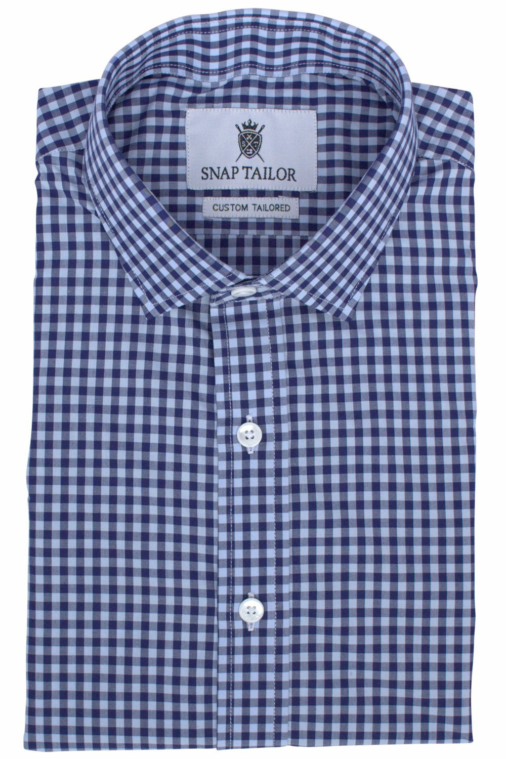 Photo of the Multicolor Gingham Casual Shirt in Dark Blue / Light Blue