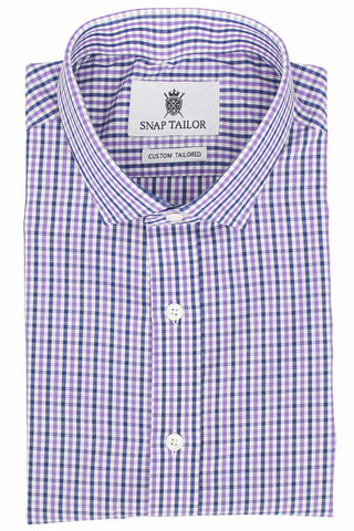 Photo of the Multicolor Gingham Casual Shirt in Lavender / Midnight Blue