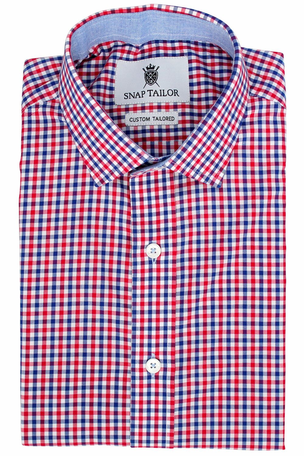 Photo of the Multicolor Gingham Casual Shirt in Red / Navy Blue