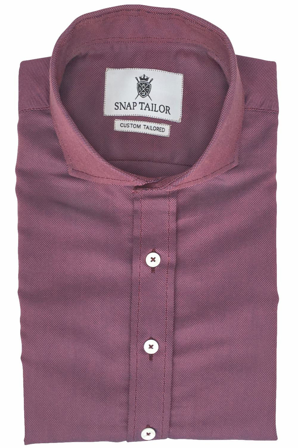 Photo of Non-Iron Basket Weave Casual Shirt in Pink and Blue