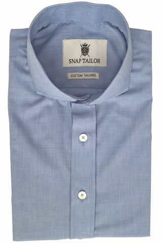 Photo of Non-Iron End-on-End Dress Shirt in Blue