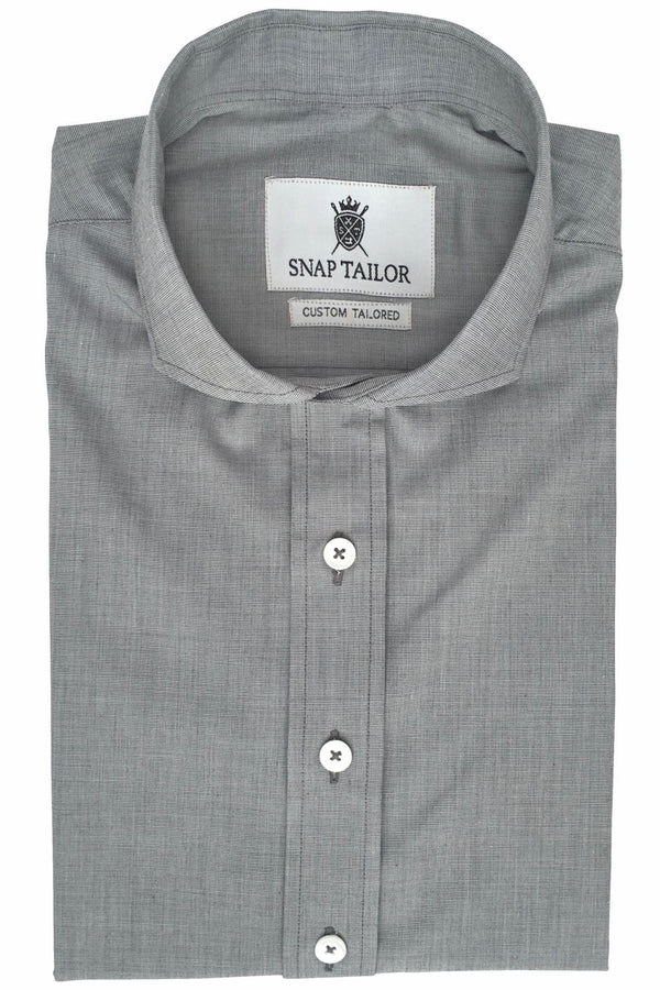 Photo of Non-Iron End-on-End Dress Shirt in Gray