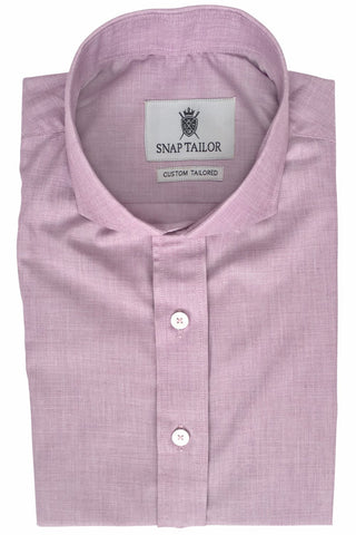 Photo of Non-Iron End-on-End Dress Shirt in Maroon