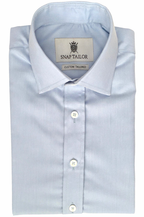Photo of Non-Iron Twill Dress Shirt in Light Blue