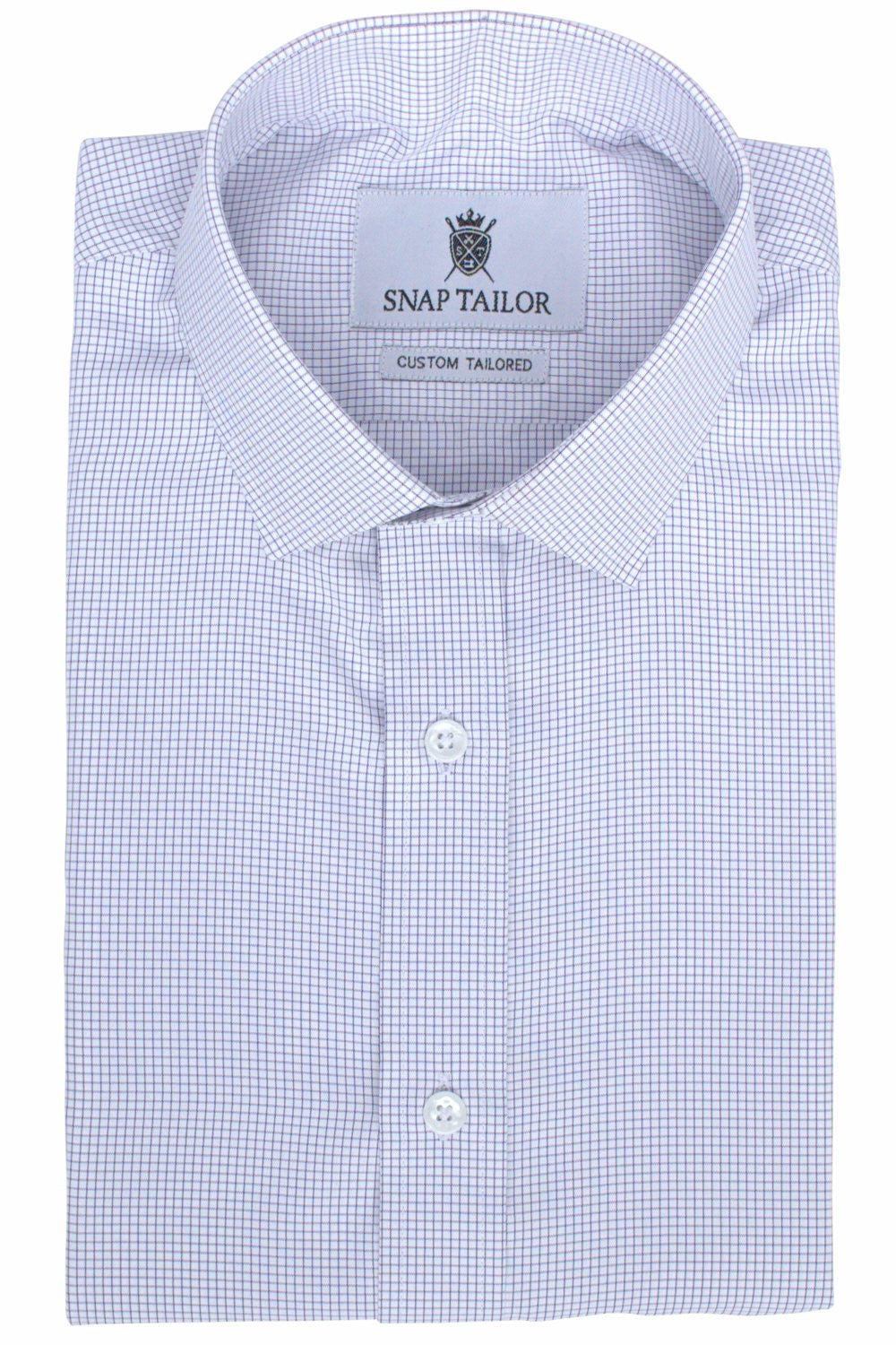 Photo of the Pinpoint Oxford Grid Dress Shirt in Eggplant