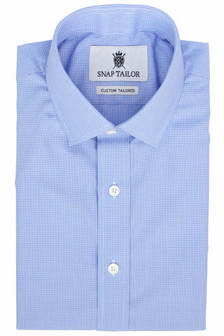 Photo of the Pinpoint Oxford Grid Dress Shirt in Light Blue