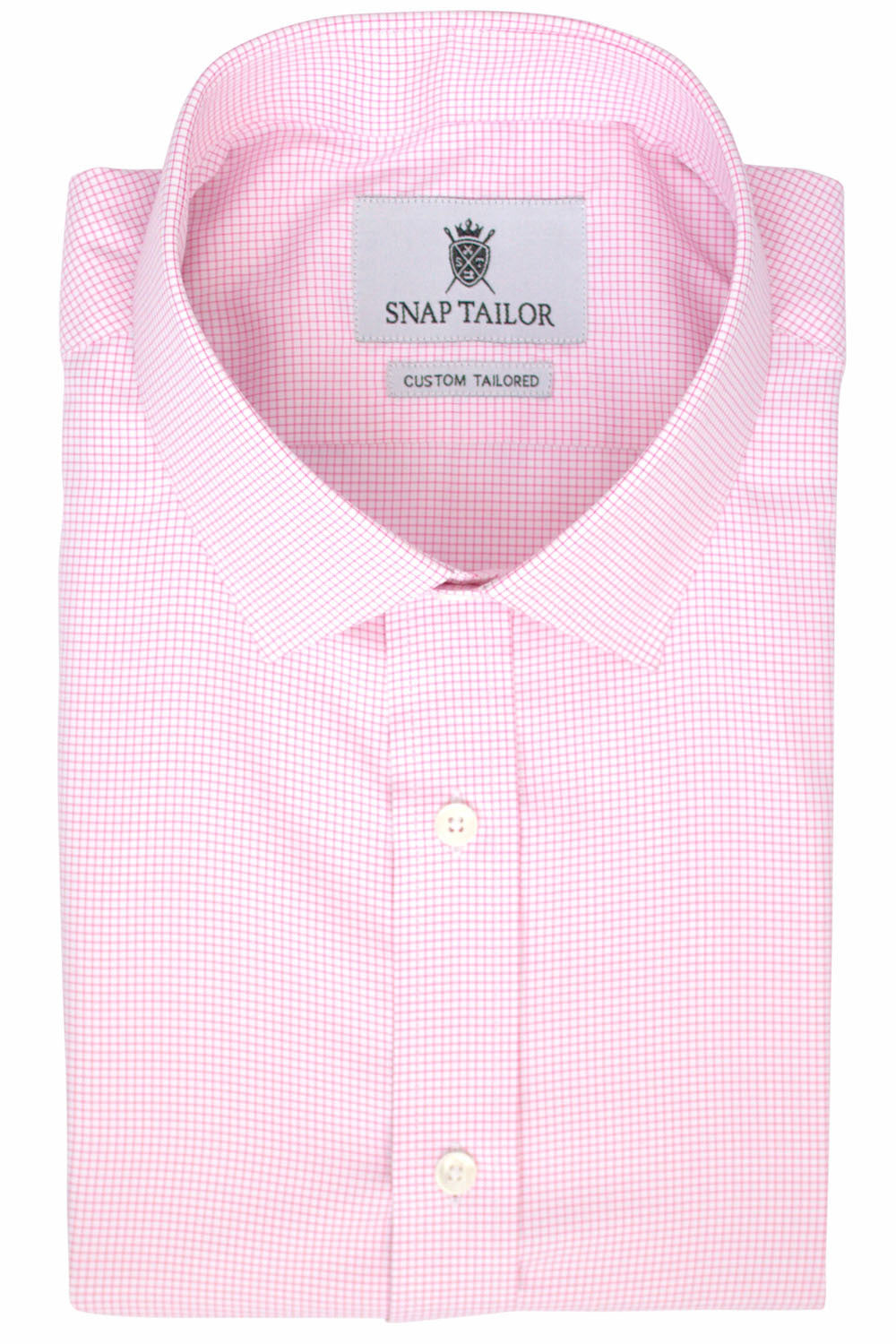 Photo of the Pinpoint Oxford Grid Dress Shirt in Pink