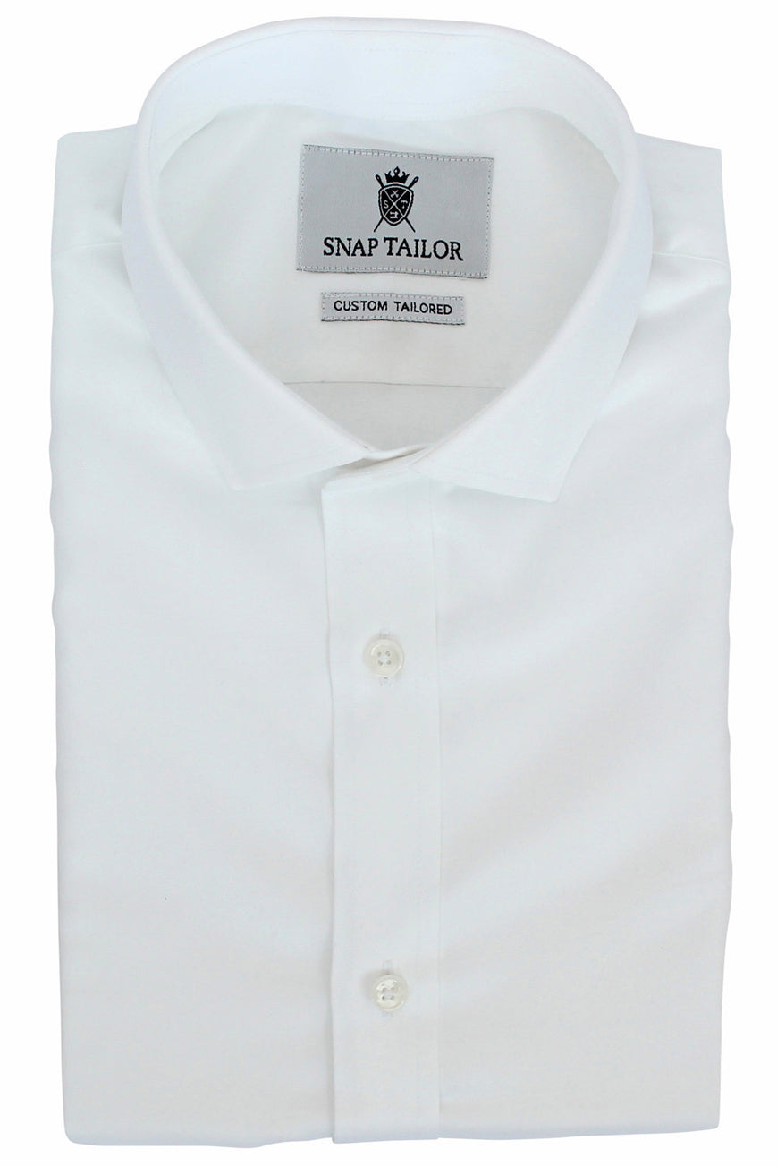 Photo of the Premium Twill Solid Dress Shirt in White