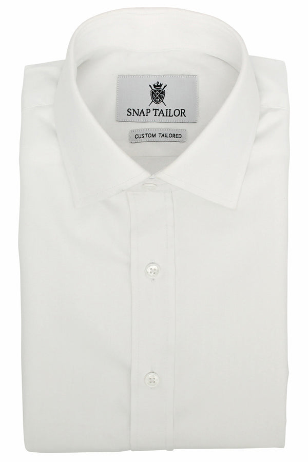Photo of the Solid Herringbone Dress Shirt in White