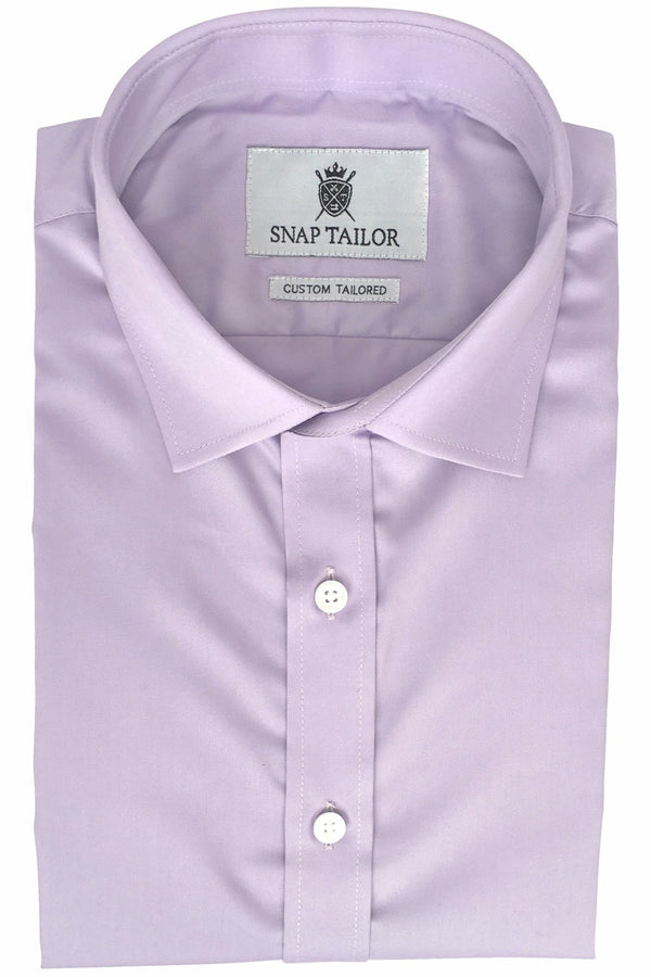 Photo of Solid Twill Dress Shirt in Lavender