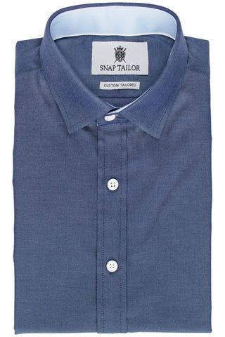 Photo of the Chambray Casual Shirt in Dark Blue