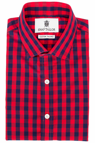 Photo of the Game Day Red Blue Check Casual Shirt