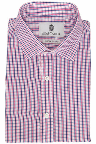 Photo of the Peach and Blue Tattersall Dress Shirt