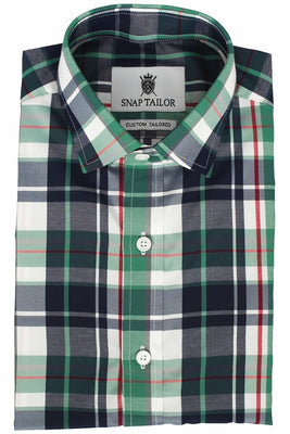 Photo of the Plaid Casual Shirt in Seafoam