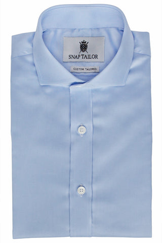 Photo of the Solid Twill Dress Shirt in Light Blue