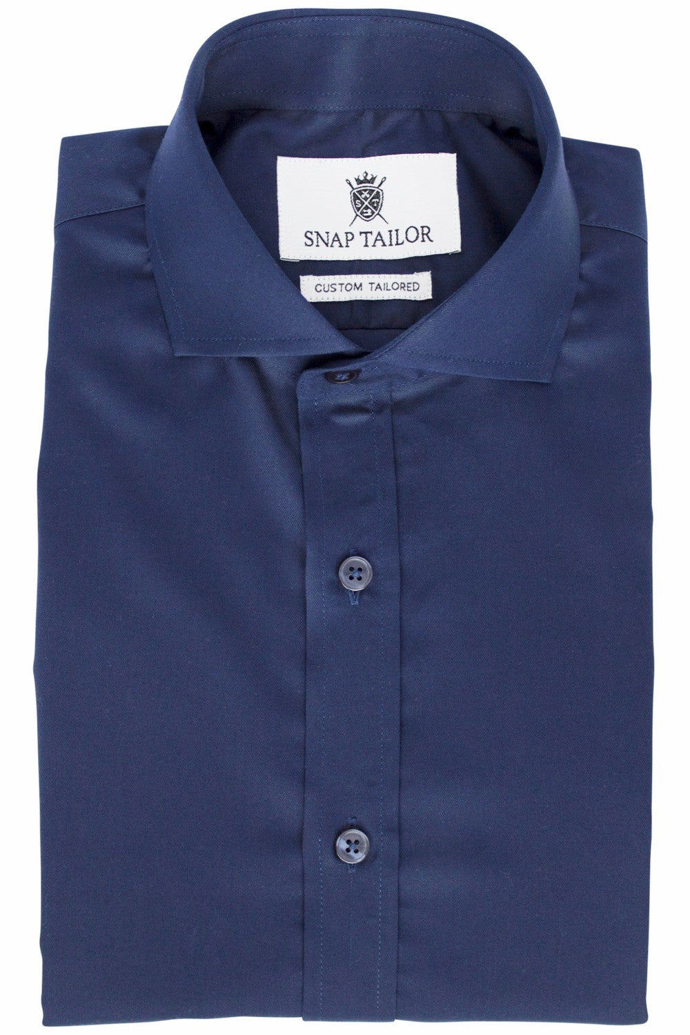 Photo of the Solid Twill Dress Shirt in Midnight Blue