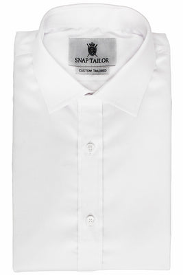 Photo of the Solid Twill Dress Shirt in White