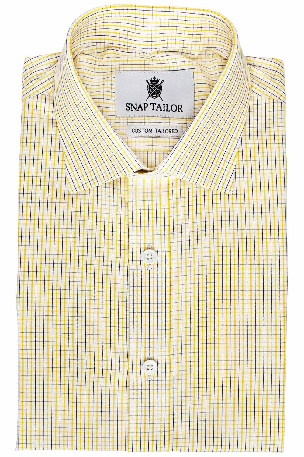 Photo of the Yellow and Black Tattersall Dress Shirt