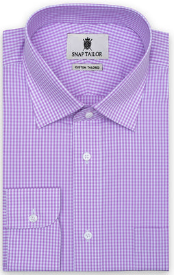 Lavender Bruiser Mini Gingham Shirt